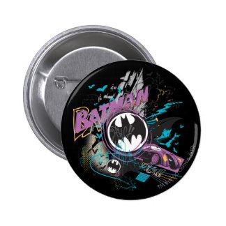 Batman Gotham Skyline Sketch Pins Zazzle_button