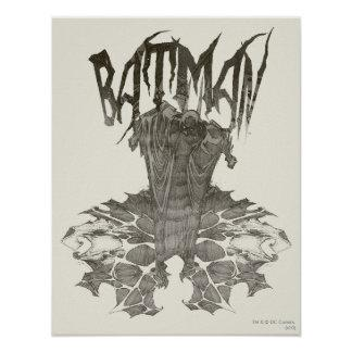 Batman Graphic Novel Pencil Sketch 2 Print