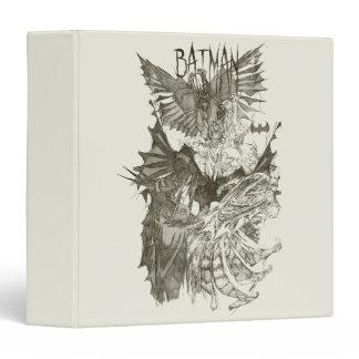 Batman Graphic Novel Pencil Sketch 3 Ring Binders