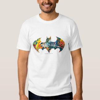 Batman Logo Neon/80s Graffiti T Shirt