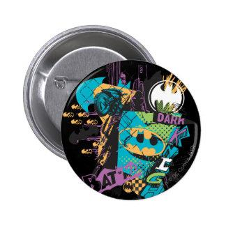 Batman Neon The Dark Knight Collage Pinback Buttons Zazzle_button
