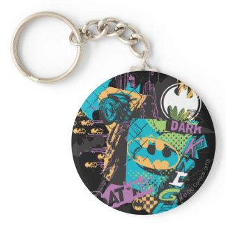 Batman Neon The Dark Knight Collage Key Chains Zazzle_keychain