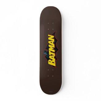 Batman Old School Logo Skate Decks Zazzle_skateboard