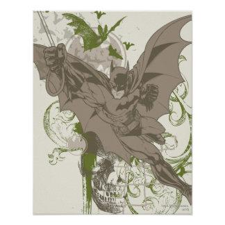 Batman Swinging Collage with Skull Posters Zazzle_print