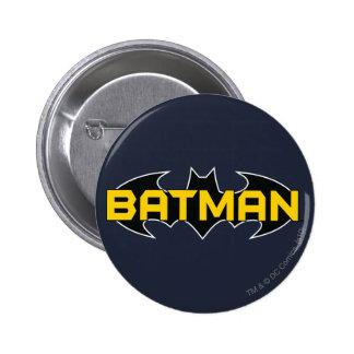 Batman Symbol | Name Yellow & Black Logo Pinback Button Zazzle_button