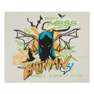 Don't Mess with the Batman - Notebook Collage Poster Zazzle_print