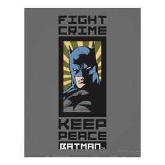 Fight Crime - Keep Peace - Batman Posters Zazzle_print