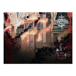 Gotham Burning Poster Zazzle_print