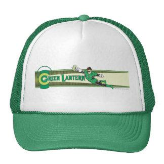 Green Lantern and Logo Trucker Hat Zazzle_hat