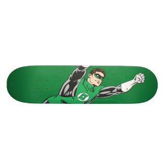 Green Lantern Fly Right Skate Board Deck Zazzle_skateboard