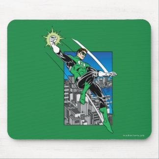 Green Lantern with City Background Mouse Pad Zazzle_mousepad