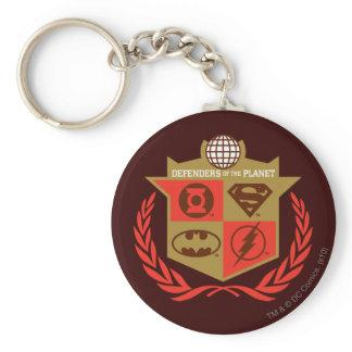 Justice League Defenders of the Planet Basic Round Button Keychain Zazzle_keychain