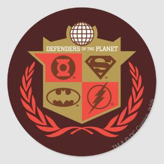 Justice League Defenders of the Planet Classic Round Sticker