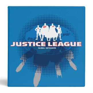 Justice League Global Defenders Binder Zazzle_binder