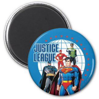 Justice League Global Heroes 2 Inch Round Magnet Zazzle_magnet