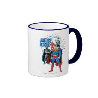 Justice League Global Heroes Ringer Mug