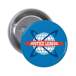 Justice League Globe Logo Pinback Button Zazzle_button