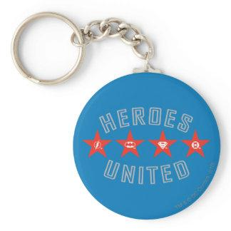 Justice League Heroes Untied Logos Keychains Zazzle_keychain