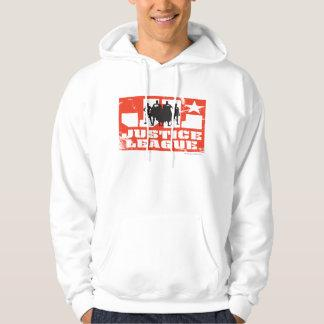 Justice League Logo and Character Silhouettes Hoodie Zazzle_shirt