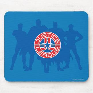 Justice League Logo and Solid Character Background Mouse Pad Zazzle_mousepad