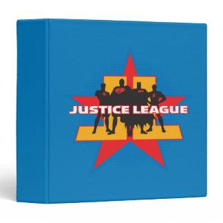 Justice League Silhouettes and Star Background 3 Ring Binder Zazzle_binder