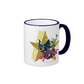 Justice League Star Heroes Ringer Coffee Mug Zazzle_mug