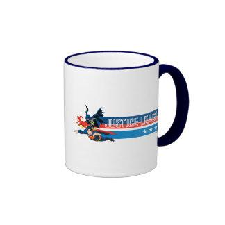 Justice League Stars and Stripes Ringer Coffee Mug Zazzle_mug