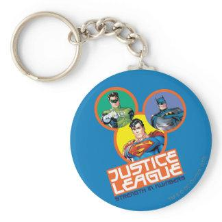 """Justice League """"Strength in Numbers"""" Keychain Zazzle_keychain"""