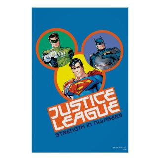 """Justice League """"Strength in Numbers"""" Poster Zazzle_print"""