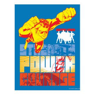 Justice League Strength. Power. Courage. Character Postcard Zazzle_postcard