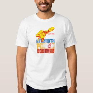 Justice League Strength. Power. Courage. Character T-Shirt Zazzle_shirt
