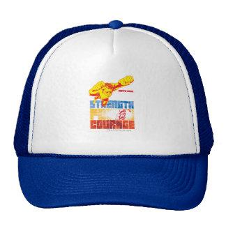Justice League Strength. Power. Courage. Character Trucker Hat Zazzle_hat