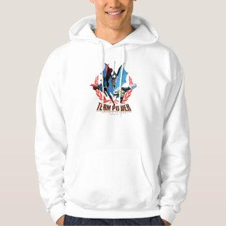 Justice League Team Power Hooded Pullover Zazzle_shirt