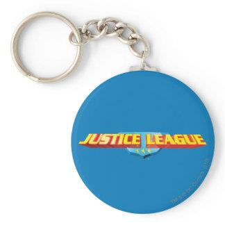 Justice League Thin Name and Shield Logo Key Chain Zazzle_keychain