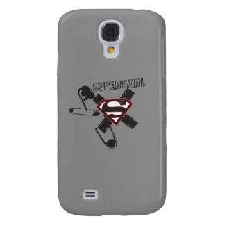 Supergirl Black Safety Pins Galaxy S4 Cover