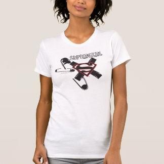 Supergirl Black Safety Pins Tshirt