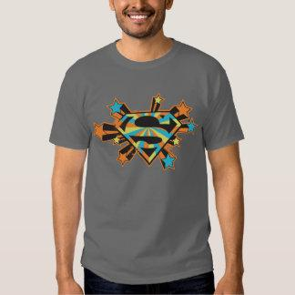 Supergirl Colorful Stars Logo T-shirt Zazzle_shirt