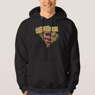 Supergirl Grunge Logo Pink Sweatshirt Zazzle_shirt
