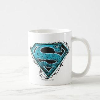 Supergirl Logo Barbed Wire and Flowers Coffee Mug Zazzle_mug
