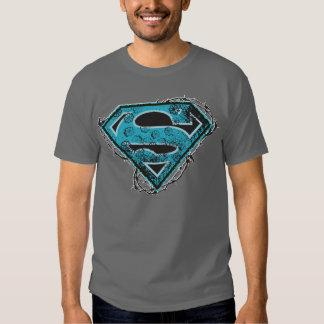 Supergirl Logo Barbed Wire and Flowers T-Shirt Zazzle_shirt