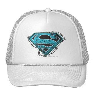 Supergirl Logo Barbed Wire and Flowers Trucker Hat