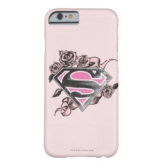 Supergirl Logo with Roses Barely There iPhone 6 Case