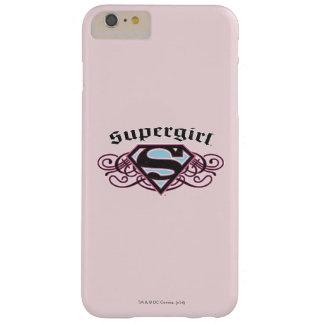 Supergirl Pin Strips Black and Pink Barely There iPhone 6 Plus Case