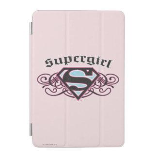 Supergirl Pin Strips Black and Pink iPad Mini Cover