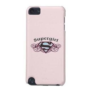 Supergirl Pin Strips Black and Pink iPod Touch 5G Case