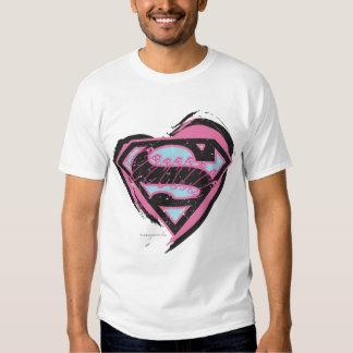 Supergirl Pink Logo in Heart T Shirt Zazzle_shirt