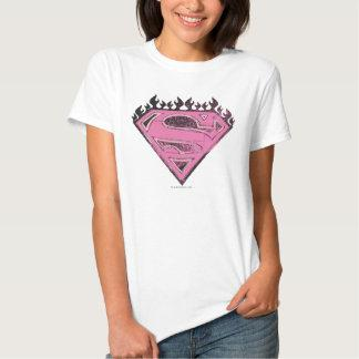 Supergirl Pink Logo with Flames Shirt Zazzle_shirt