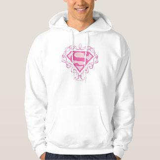Supergirl Pink Stripes Pullover Zazzle_shirt