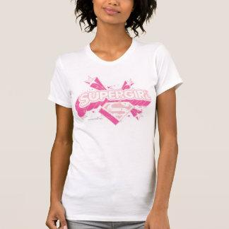 Supergirl Stars and Logo T-Shirt Zazzle_shirt