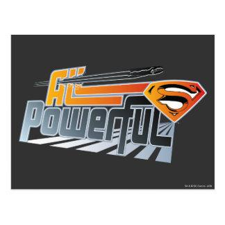 Superman All Powerful Post Card Zazzle_postcard